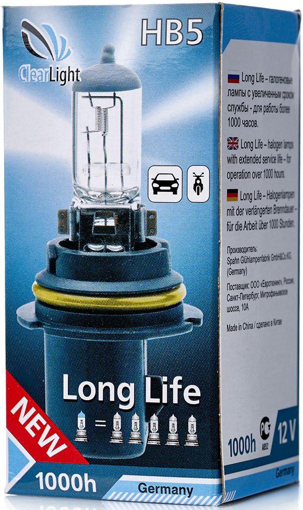 Лампа автомобильная галогенная Clearlight HB5 LongLife10503LONG LIFE- высокая яркость с длительным сроком службы. Качество оригинальной лампы.