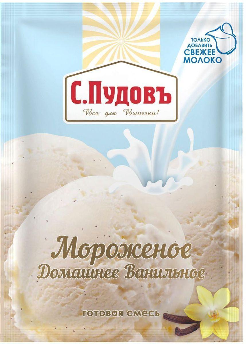 Пудовъ Мороженое домашнее ванильное, 70 г