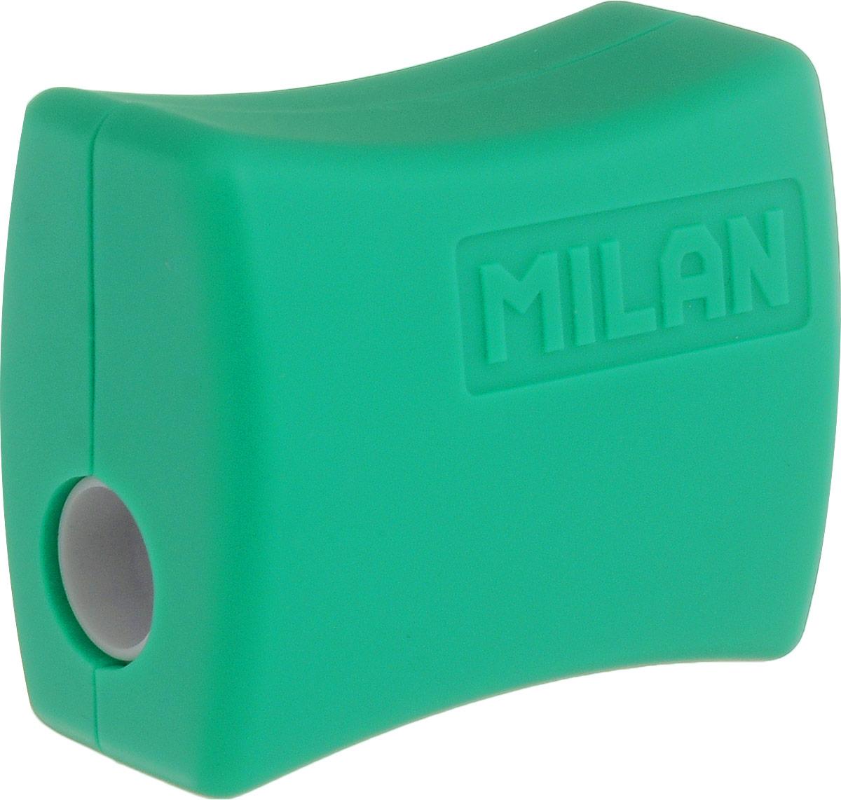 Milan Точилка Double с контейнером цвет зеленый20152918_зеленыйУдобная точилка Milan Double с контейнером оснащена безопасной системой заточки.Эта система предотвращает отделение лезвия от точилки. Идеально подходит для использования в школах. Стальное лезвие острое и устойчиво к повреждению. Идеально подходит для заточки графитовых и цветных карандашей.