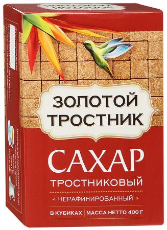 Золотой тростник сахар тростниковый нерафинированный в кубиках, 400 г0120710Нерафинированный тростниковый сахар - это полезный и натуральный продукт. Он изготовлен из свежего и сочного тростника, созревшего под жарким тропическим солнцем.Проходит не более 4-х часов с момента сбораурожая до получения кристаллов сахара. Сахар Золотой Тростник - это идеальное сочетание природной пользы и вкуса.Насыщенный карамельный аромат сахара подчеркнет вкусовую гамму кофе и чая.Рекомендуется для домашней выпечки и десертов. Энергетическая ценность: 394 ккал. Пищевая ценность в 100 г продукта: углеводы 98,5 г.