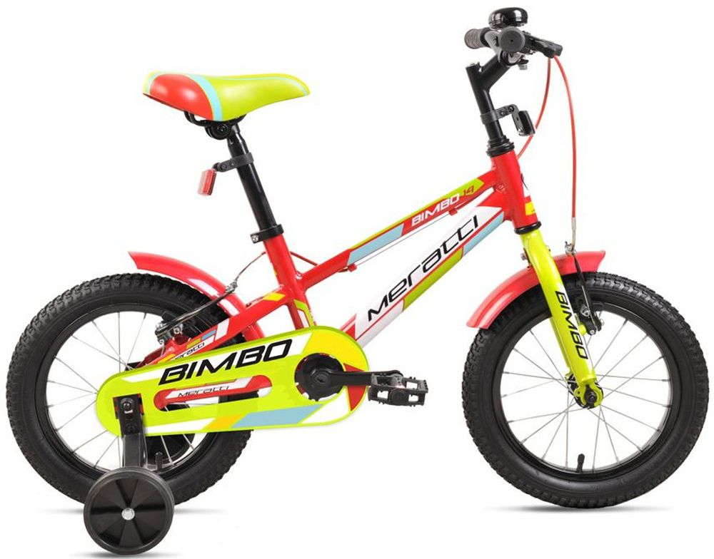 Велосипед Meratti  Bimbo 14 , цвет: красный, желтый -  Детские велосипеды