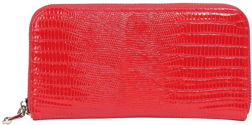 Кошелек женский Janes Story, цвет: красный. K-L-889-12волк полярныйЖенский кошелек Janes Story выполнен из натуральной кожи с декоративным тиснением и застегивается на металлическую молнию. Внутри - отделение для купюр, наборные карманы для кредитных карт или визиток и отделение для мелочи на застежке-молнии.