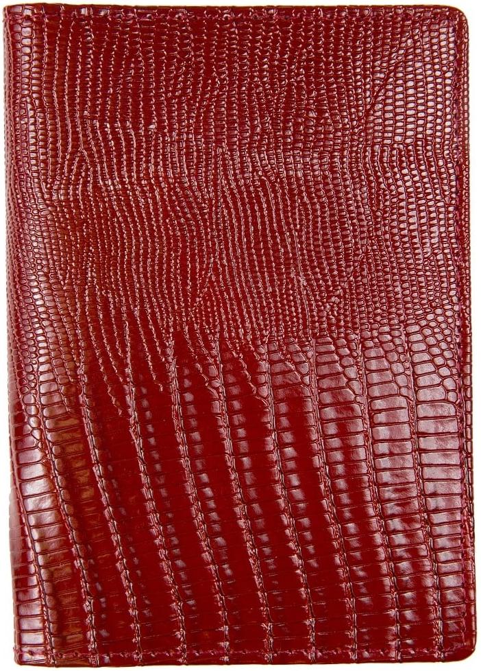 Обложка для паспорта женская Janes Story, цвет: бордовый. K-L-P193-03392678Обложка для паспорта Janes Story выполнена из натуральной кожи с тиснением. На внутреннем развороте 2 кармана из кожи и ПВХ, текстильная подкладка.