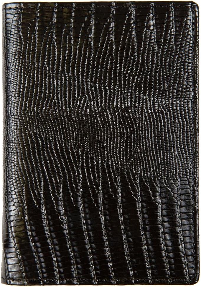 Обложка для паспорта женская Janes Story, цвет: черный. K-L-P193-04W16-11135_914Обложка для паспорта Janes Story выполнена из натуральной кожи. На внутреннем развороте 2 кармана из кожи, текстильная подкладка.