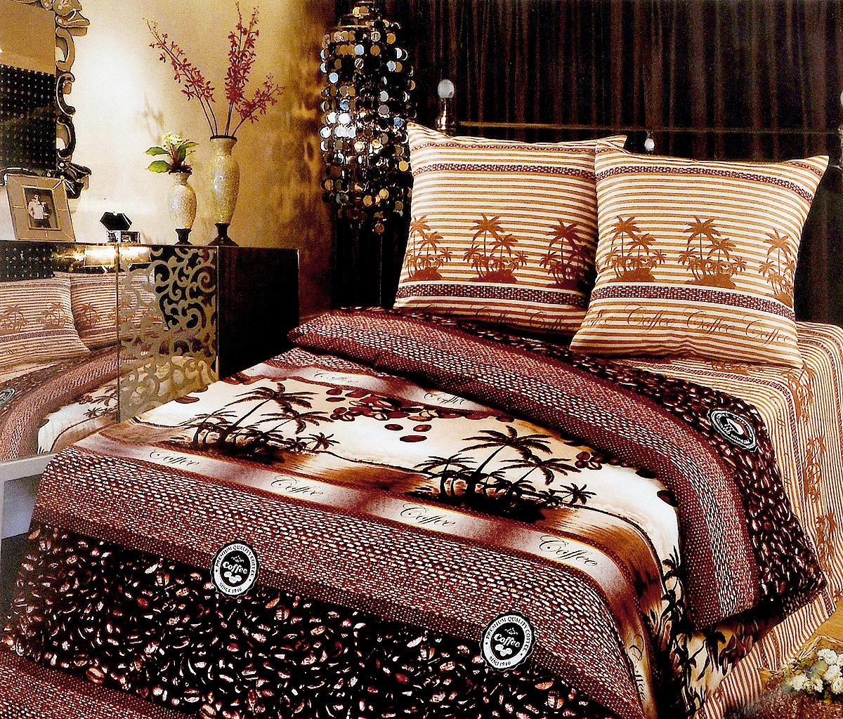 Комплект белья Арт Постель Кофе, 1,5 спальный, наволочки 70x70016534102Комплект постельного белья Арт Постель Кофе выполнен из бязи (100% хлопка) высочайшего качества. Бязь отличается прочностью и стойкостью к многочисленным стиркам. Комплект состоит из пододеяльника, простыни и двух наволочек. Постельное белье с ярким дизайном, имеет изысканный внешний вид.Благодаря такому комплекту постельного белья вы сможете создать атмосферу роскоши и романтики в вашей спальне.