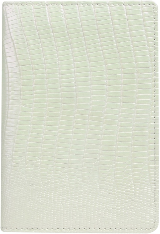 Обложка для паспорта женская Janes Story, цвет: белый. K-L-P193-62O.1.SG.черныйОбложка для паспорта Janes Story выполнена из натуральной кожи с тиснением. На внутреннем развороте 2 кармана из кожи и ПВХ, текстильная подкладка.