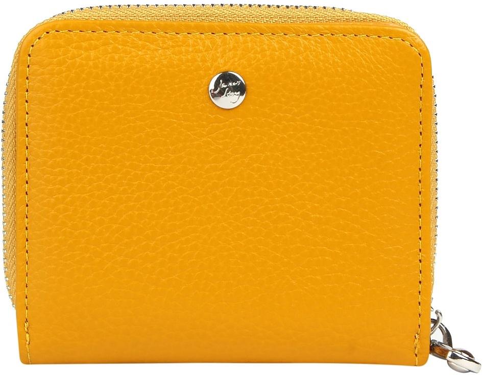 Кошелек женский Janes Story, цвет: желтый. K-LG-830-67SARMA волк С030-1Женский кошелек Janes Story выполнен из натуральной кожи и застегивается на кнопку. Внутри - отделение для купюр, пять карманов для кредитных карт или визиток, один карман с прозрачным окошком и отделение для мелочи, состоящее из двух отсеков, закрывающееся на металлическую молнию.