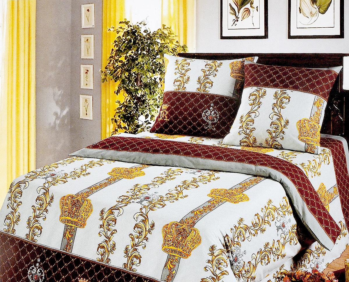 Комплект белья Арт Постель Королевская постель, 2-спальный, наволочки 70х70, цвет: серый, коричневый391602Комплект постельного белья Арт Постель Королевская постель является экологически безопасным для всей семьи, так как выполнен из бязи (натурального хлопка). Комплект состоит из пододеяльника, простыни и двух наволочек. Постельное белье оформлено оригинальным рисунком и имеет изысканный внешний вид.Для производства постельного белья используются экологичные ткани высочайшего качества.Бязь - хлопчатобумажная плотная ткань полотняного переплетения. Отличается прочностью и стойкостью к многочисленным стиркам. Бязь считается одной из наиболее подходящих тканей, для производства постельного белья и пользуется в России большим спросом.