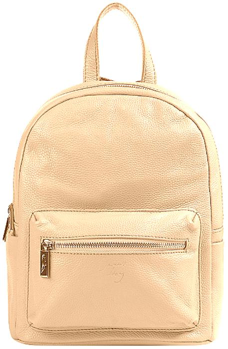 Рюкзак женский Janes Story, цвет: бежевый. KL-8076-6123008Стильный женский рюкзак Janes Story выполнен из натуральной кожи высокого качества. Рюкзак имеет два вместительных отделения, закрывающихся на металлические застежки-молнии. На внешней стороне изделия расположен небольшой накладной карман на застежке-молнии. На спинке - дополнительный прорезной карман на молнии.Рюкзак оснащен кожаными лямками, длину которых можно регулировать, и удобной петелькой для подвешивания.Этот модный и практичный аксессуар прекрасно дополнит ваш образ и сделает его завершенным.