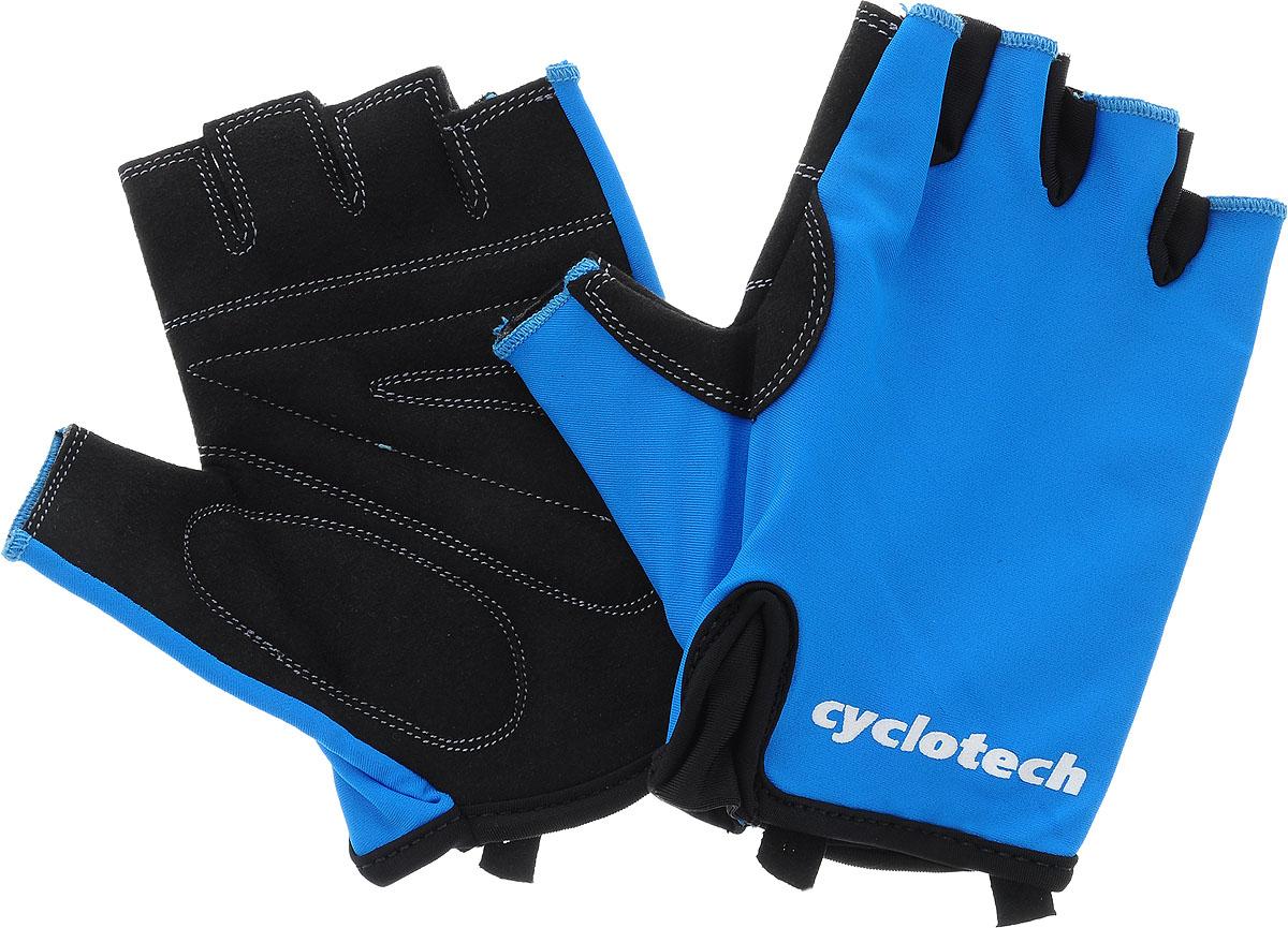 Велоперчатки Cyclotech Wind Bike, цвет: черный, синий. Размер MWIND-BВелоперчатки Cyclotech Wind Bike отлично садятся по руке. Ладонь выполнена из полиэстера, тыльная сторона изготовлена из эластана. Благодаря резинке перчатки легко надевать. Перчатки хорошо вентилируются, не дают руке скользить на руле и гасят неприятные вибрации.