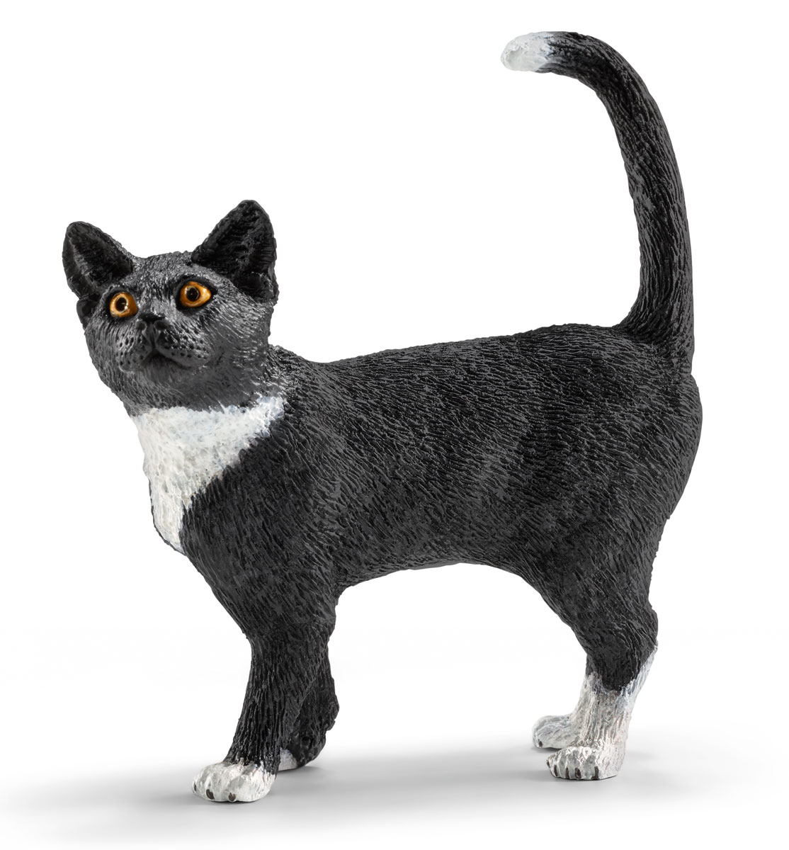 Schleich Фигурка Кошка цвет черный белый schleich фигурка черная пантера
