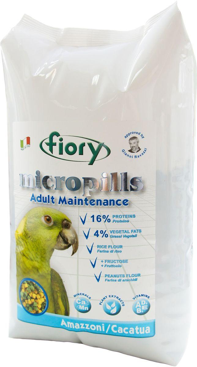 Корм сухой Fiory Micropills для амазонских попугаев и какаду, 1,4 кг0370Полноценный корм Fiory Micropills создан на основе пищевых потребностей взрослых амазонских попугаев и попугаев какаду. Продукт содержит необходимое для данного вида попугаев количество белка (16%) и жира (4%). В качестве важного природного источника углеводов в данном корме используется фруктоза. Живой глютен пшеницы хорошо переваривается организмом птицы и служит отличным источником белка. Уникальная технология экструзии без применения высоких температур позволяет сохранить питательные вещества исходных компонентов. Бисквитная, рисовая, кукурузная и арахисовая мука придают корму высокую вкусовую привлекательность. Комплекс нутрицевтиков (дрожжи, инулин Цикория, фруктоолигосахариды, бета-глюканы, Омега-3 и Омега-6 жирные кислоты, титрованные растительные экстракты и прочее) способствует правильному пищеварению, укрепляет иммунную систему, повышает усвоение минеральных веществ, улучшает работу сердца и сосудов, играет важную роль в развитии головного мозга и зрения, способствует формированию блестящего оперения. Уникальная форма корма – яркая цветная пеллета, которая делает корм привлекательным для птицы и исключает пищевое селективное поведение.Состав: фруктоза, мука пшеницы, глютен пшеницы, мука из печенья, рисовая мука, кукурузная мука, арахисовая мука, соевая мука, карбонат кальция, бикарбонат натрия, красители и консерванты, одобренные EC, дрожжи Saccharomyces Cerevisiae (1250 мг/кг), инулин Цикория (250 мг/кг), клеточные стенки дрожжей Saccharomyces Cerevisiae (MOS 187,5 мг/кг), фруктоолигосахариды (ФОС 125 мг/кг), бета-глюканы дрожжей Saccharomyces Cerevisiae (66,9 мг/кг), нуклеотиды (62,5 мг/кг), Юкка Schidigera (25 мг/кг), масло Огуречника (Омега-6 ГЛК-микроинкапсулированная 5,55 мг/кг), жирные кислоты (Омега-3 DHA+EPA+DPA 1,51 мг/кг), титрованные растительные экстракты (молочный чертополох, одуванчик лекарственный, артишок испанский, свинорой пальчатый, иглица колючая, пажитник сенной,