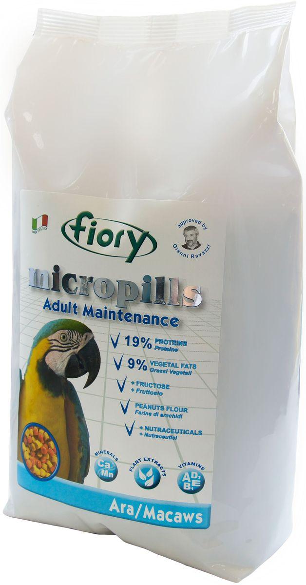Корм сухой Fiory Micropills Ara/Macaws, для попугаев Ара, 1,4 кг0120710Fiory Microppils Ara полноценный корм, созданный на основе пищевых потребностей взрослых попугаев Ара. Продукт содержит необходимое для данного вида попугаев повышенное количество белка (19%) и жира (9%). В качестве важного природного источника углеводов в данном корме используется фруктоза. Живой глютен пшеницы хорошо переваривается организмом птицы и служит отличным источником белка. Уникальная технология экструзии без применения высоких температур позволяет сохранить питательные вещества исходных компонентов. Бисквитная, рисовая и арахисовая мука придают корму высокую вкусовую привлекательность.Комплекс нутрицевтиков (дрожжи, инулин Цикория, фруктоолигосахариды, бета-глюканы, Омега-3 и Омега-6 жирные кислоты, титрованные растительные экстракты и др.) способствует правильному пищеварению, укрепляет иммунную систему, повышает усвоение минеральных веществ, улучшает работу сердца и сосудов, играет важную роль в развитии головного мозга и зрения, способствует формированию блестящего оперения. Уникальная форма корма – яркая цветная пеллета, делает корм привлекательным для птицы и исключает пищевое селективное поведение.Корм рекомендован известным орнитологом, заводчиком, автором более 70 книг о животных Gianni Ravazzi.Форма: пеллеты одинакового размера красного и желтого цвета.Фруктоза, глютен пшеницы, мука из печенья, пшеничные отруби, подсолнечное масло, рисовая мука, кукурузные отруби, соевая мука, арахисовая мука, карбонат кальция, бикарбонат натрия, красители и консерванты, одобренные EС, дрожжи Saccharomyces Cerevisiae (1250 мг/кг), инулин Цикория (250 мг/кг), клеточные стенки дрожжей Saccharomyces Cerevisiae (MOS 187,5 мг/кг), фруктоолигосахариды (ФОС 125 мг/кг), бета-глюкан дрожжей Saccharomyces Cerevisiae (66,9 мг/кг), нуклеотиды (62,5 мг/кг), Юкка Schidigera (25 мг/кг), масло Огуречника (Омега-6 ГЛК-микроинкапсулированная 5,55 мг/кг ), жирные кислоты (Омега-3 DHA+EPA+DPA 1,51 мг/кг), титро