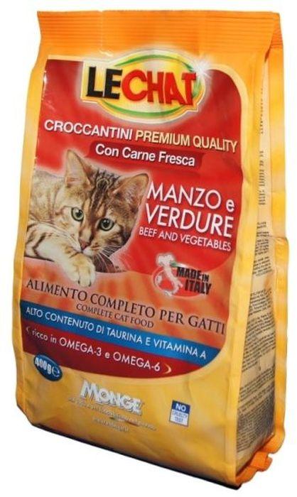 Консервы Monge Lechat Cat, для кошек, с говядиной и овощами, 400 гJBL4129700Анализ компонентов: сырой белок 30%, сырые масла и жиры 12%, сырая зола 9,5%, сырая клетчатка 2,5%, магний 0,12%, кальций 2,5%, фосфор 1,5%, омега-6 2,06%, омега-3 0,57%.Пищевые добавки: витамин А (как ретинол ацетат) 22000 МЕ, витамин D3 (как кальциферол) 1600МЕ, витамин Е (альфа-токоферол ацетат) 120 мг/кг, таурин 1343 мг/кг, холина хлорид 2200 мг/кг, DL-метеонин 6500 мг/кг, сульфат марганца моногидрат 60 мг/кг (марганец 20 мг/кг), оксид цинка 125 мг/кг (цинк 90 мг/кг), сульфат меди пентагидрат 30 мг/кг (меди 7,8 мг/кг), сульфат железа моногидрат 215 мг/кг (железа 65 мг/кг), селенит натрия 0,30 мг/кг (селен 0,12 мг/кг), йодат кальция безводный 1,60 мг/кг (йод 1 мг/кг).Технологические добавки: антиоксиданты.Энергетическая ценность: 374 ккал/100г.Злаки, мясо и мясные субпродукты (свежаяговядина мин. 5%), масла и жиры (масло лосося 0,5%), овощи (нерастворимые волокнагорошка, дегидрированныйгорошек), рыба и рыбные субпродукты, минералы, дрожжи (маннаноолигосахариды (МОС) 500 мг/кг), фруктоолигосахариды (ФОС) 500 мг/кг, юкка Шидигера 1000 мг/кг.Корм должен быть доступен кошке без ограничения количества. Она будет съедать ровно столько, сколько необходимо её организму для поддержания оптимального веса. При избыточном весе и/или наличии других клинических проблем, рекомендуется ограничивать суточную норму корма в соответствии с рекомендациями вашего ветеринарного врача и/или следовать приведенной на упаковке таблице. ВАЖНО, чтобы у животного всегда был свободный доступ к свежей и чистой воде. Новый корм рекомендуется вводить постепенно, увеличивая его количество каждый день до полного замещения им старого корма приблизительно через неделю.