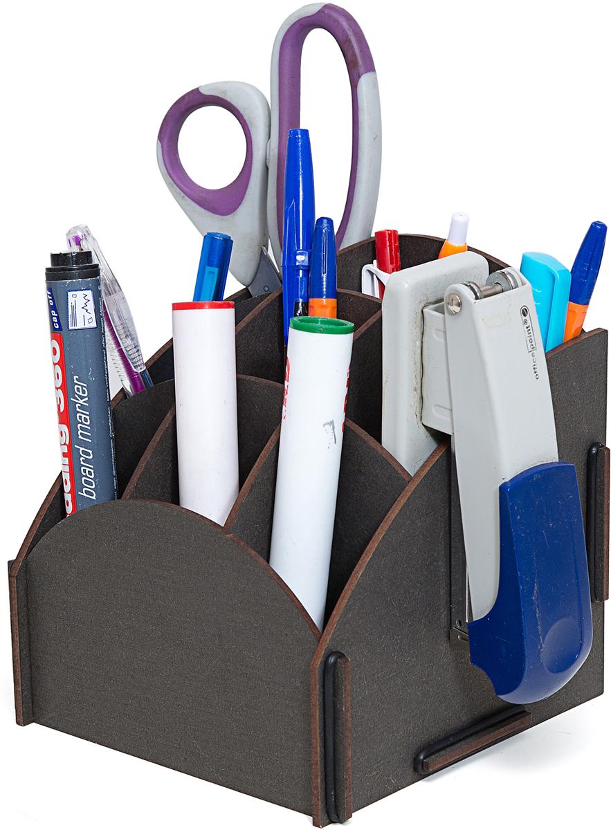 Органайзер на стол Homsu, 9 ячеек, 13,8 х 13,8 х 14 смБрелок для ключейЭтот настольный органайзер просто незаменим на рабочем столе, он вместителен, и в то же время не занимает много места. Оригинальный дизайн дополнит интерьер дома и разбавит цвет в скучном сером офисе. Он изготовлен из МДФ и легко собирается из съемных частей. Имеет множество ячеек для хранения канцелярских предметов и всяких мелочей.