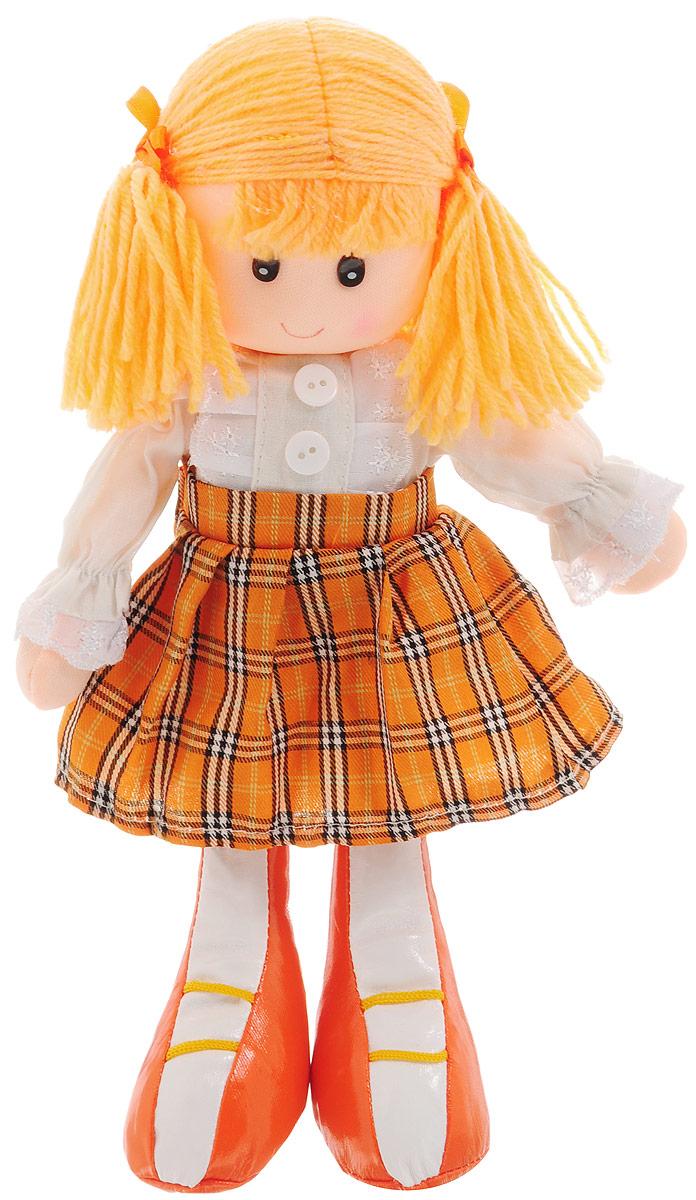 Sima-land Мягкая кукла цвет платья оранжевый