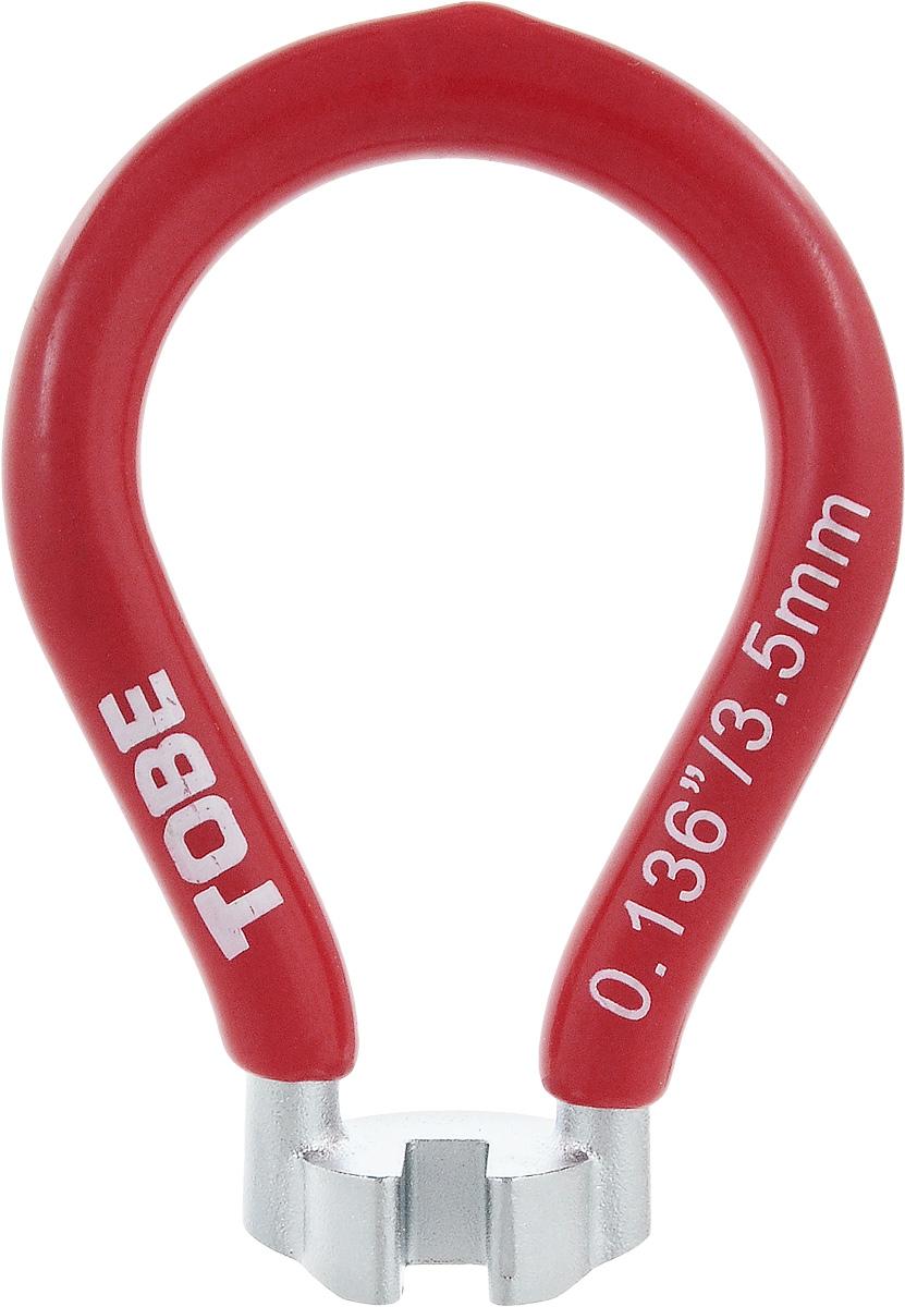 Ключ спицевой для велосипеда To Be, нипель 3,5 мм7292Ключ спицевой To Be необходим для устранения поломок системы колес велосипеда. Одноразмерный спицевой ключ выполнен из никелированный закаленной стали с виниловым покрытием.