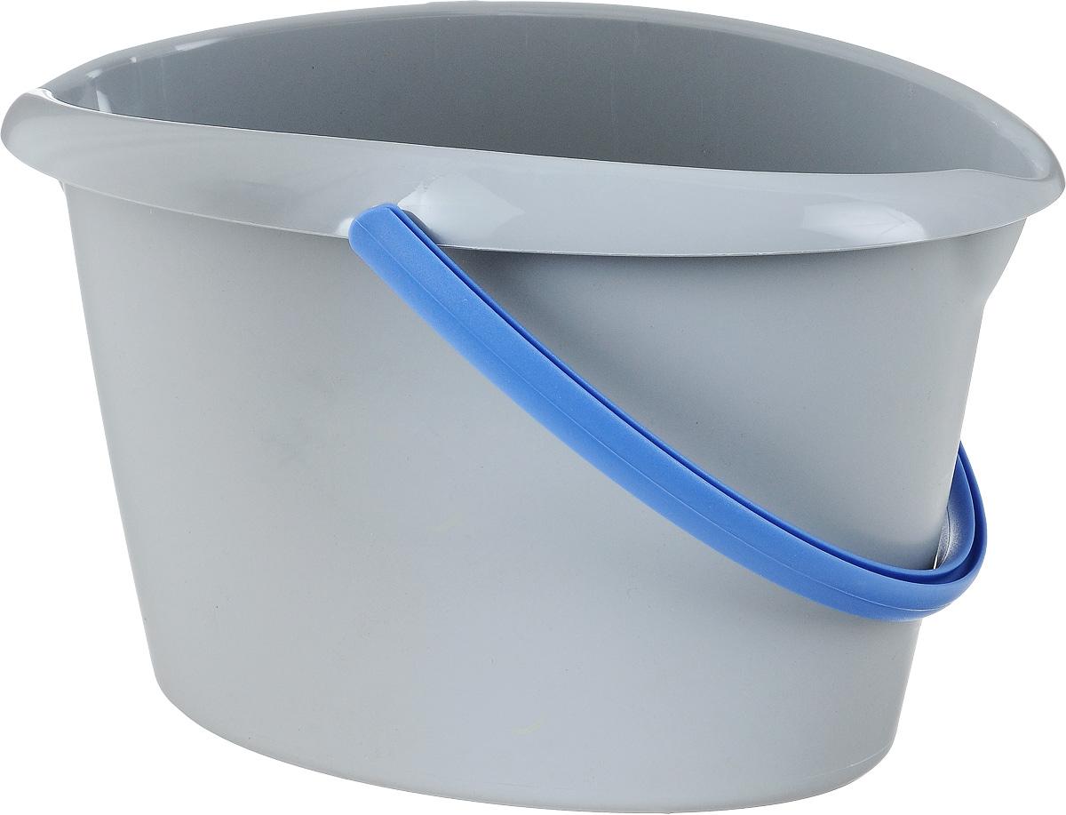 Ведро для уборки Apex, овальное, цвет: серый, голубой, 12 л10380-A_серый/голубойОвальное ведро для уборки York изготовлено из высококачественного прочного пластика. Оно легче железного и не подвержено коррозии. Изделие оснащено удобной пластиковой ручкой. Такое ведро станет незаменимым помощником в хозяйстве.