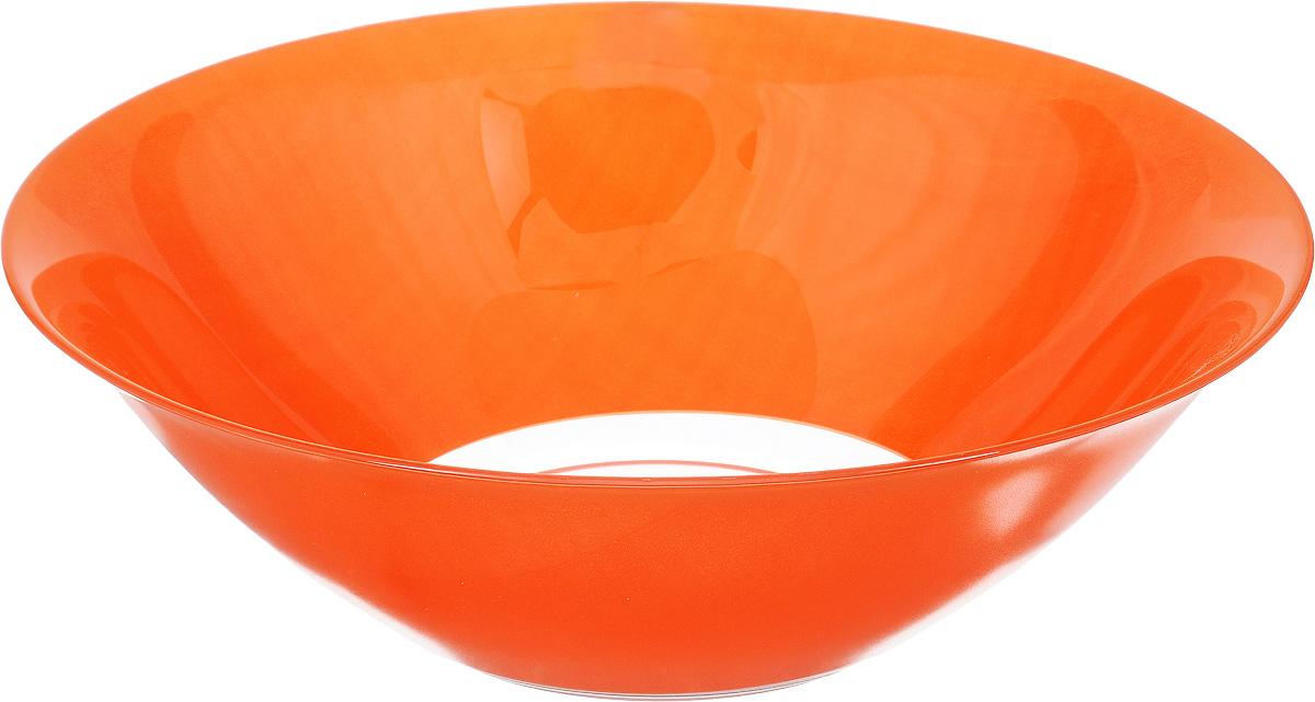 Салатник Luminarc Arty Orange, диаметр 27 смG9493Салатник Luminarc Arty Orange изготовлен из упрочненного стекла. Изделие прекрасно подойдет для подачи различных блюд: закусок, салатов или фруктов. Он прекрасно впишется в интерьер вашей кухни и станет достойным дополнением к кухонному инвентарю.Красивый и современный салатник Luminarc Arty Orange добавит ярких красок в сервировку вашего стола. Отличный вариант для шумных посиделок с друзьями.Можно мыть в посудомоечной машине и использовать в СВЧ.Диаметр салатника (по верхнему краю): 27 см.Высота салатника: 9 см.