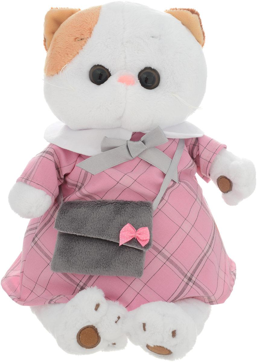 Кошечка Ли-Ли Мягкая игрушка Ли-Ли в розовом платье с серой сумочкой 24 см - Мягкие игрушки