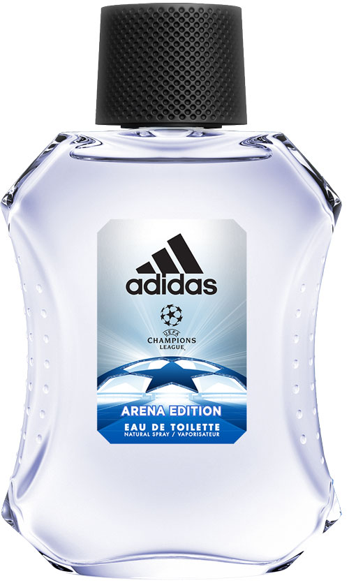 Adidas Туалетная парфюмированная вода UEFA III мужская, 100 мл28032022Туалетная вода adidas UEFA III создана для настоящих чемпионов! Аромат раскрывается нотами бергамота, яблока и розмарина. Они придают композиции взрывную свежесть.Сердце строится вокруг звучания герани и жасмина с ненавязчивым аккордом кориандра. Ноты бобов тонка и пачули создают мощную теплую базу аромата, приправленную мускусом, который продлевает звучание парфюмерной композиции.