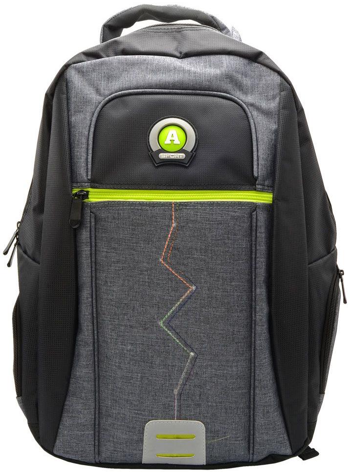 Action! Рюкзак городской цвет черно-серый72523WDРюкзак из оригинального материала. напоминающего одежду, с логотипом ACTION. Одно основное отделение на молнии. На лицевой стороне 1 дополнительно отделение на молнии. По бокам-карманы на молнии. Уплотненная рельефная спинка, создающая эффект жесткости для комфортного ношения на спине. Задние регулируемые снизу лямки имеют свтоотражающие полоски безопасности. Уплотненная верхняя ручка. Вместимость 21 литр