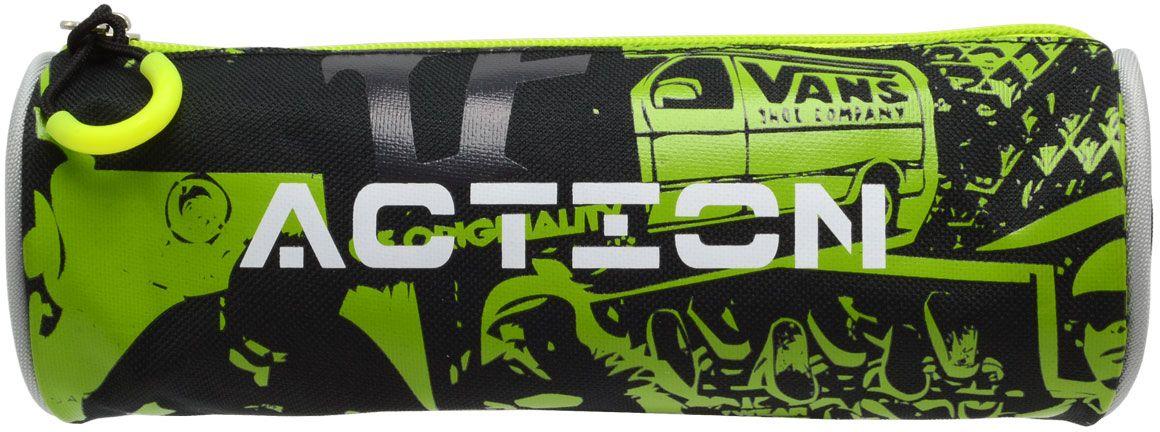 Action! Пенал цвет черный, зеленый72523WDПенал-тубус на молнии с оригинальным принтом Action! 1 отделение. Соответствует дизайну рюкзака AB11121