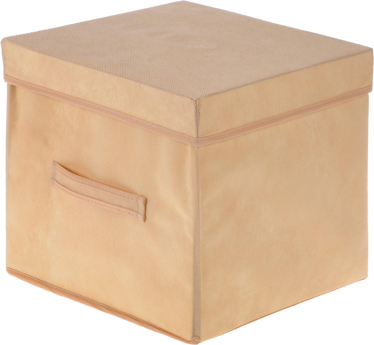Коробка для вещей Все на местах Париж, с крышкой, цвет: бежевый, 30 х 30 х 30 смCLP446Коробка с крышкой Все на местах Париж выполнена из высококачественного нетканого материала, который обеспечивает естественную вентиляцию и предназначен для хранения вещей или игрушек. Он защитит вещи от повреждений, пыли, влаги и загрязнений во время хранения и транспортировки. Размер коробки: 30 х 30 х 30 см.