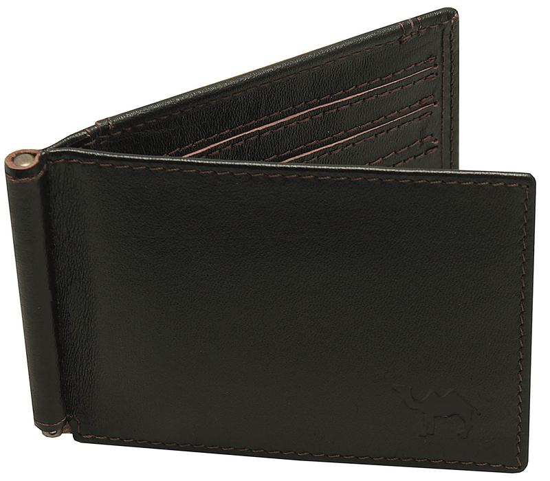 Зажим для купюр мужской Dimanche Сахара, цвет: черный. 7691-022_516Удобный зажим из натуральной кожи, снабжен фиксирующейся в открытом положении скобой для денег, внутри 6 карманов для кредиток/визиток и 2 потайных кармашка. На задней стороне карман для мелочи на кнопке. Упакован в фирменную картонную коробку.