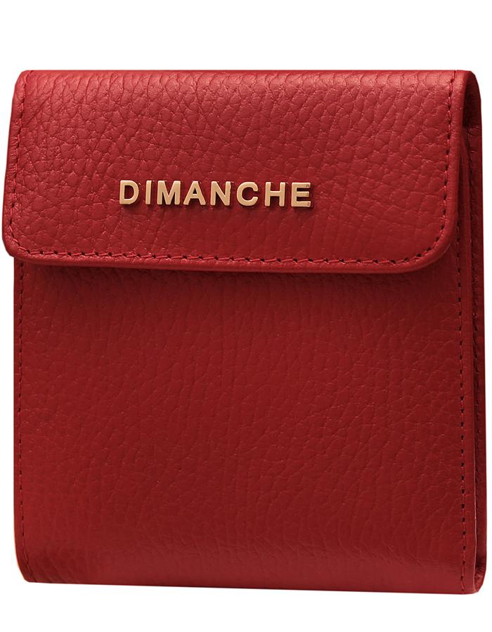 Кошелек женский Dimanche Премиум, цвет: красный. 594/33/G21/0399/068Стильный кошелек Dimanche Премиум выполнен из натуральной кожи. Внутри содержится 2 открытых и одно отделение на молнии для купюр, 3 кармашка для визиток/кредиток и карман для мелочи на кнопке. Закрывается на кнопку.