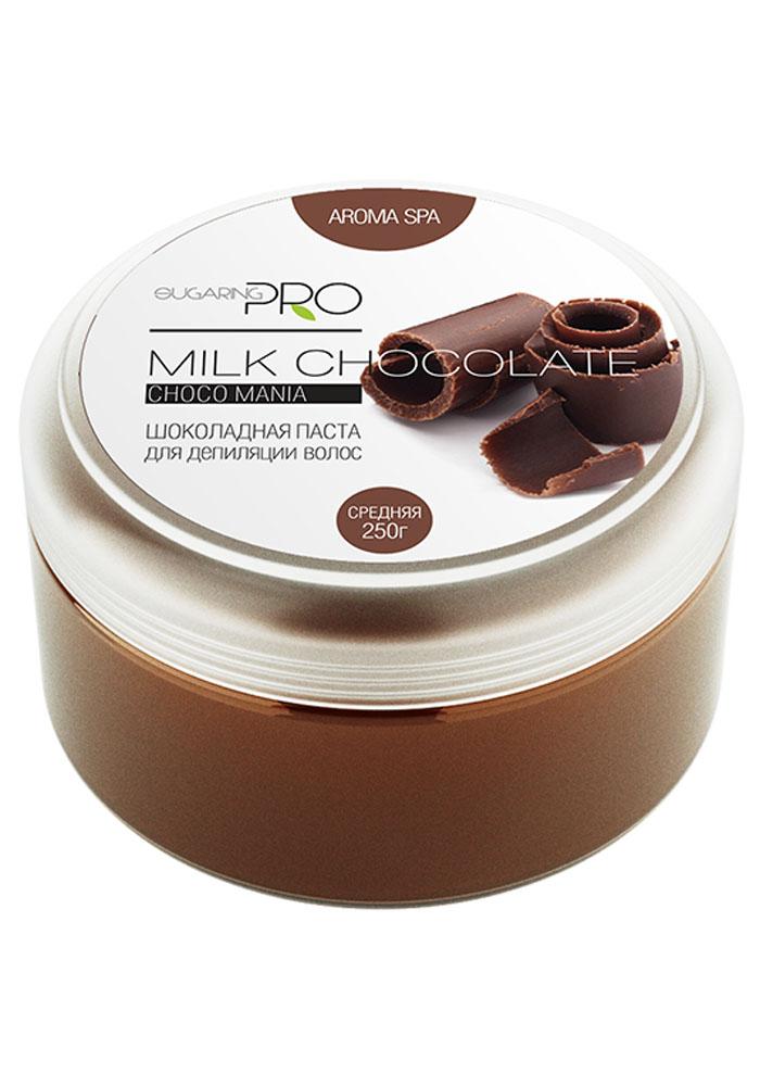 Sugaring Pro Сахарная паста Молочный шоколад средняя плотность, 250 г10Универсальная паста средней плотности подходит для удаления всех типов волос на любом участке тела. Нежно удалит волосы длинной от 3 мм, не травмируя кожу. После процедуры кожа становится мягкой и абсолютно гладкой. Подходит для чувствительной кожи со склонностью к аллергическим реакциям