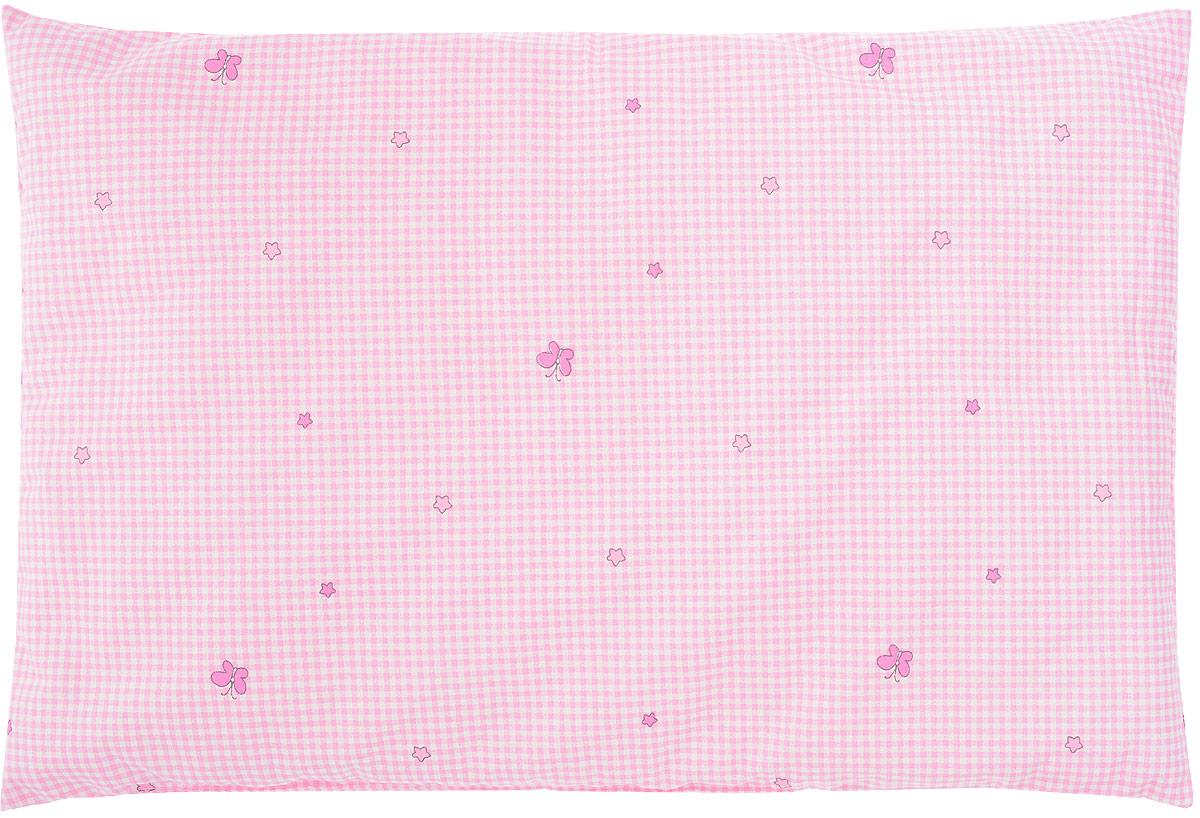 Сонный гномик Подушка детская Бабочки цвет розовый 60 х 40 см -  Детский текстиль