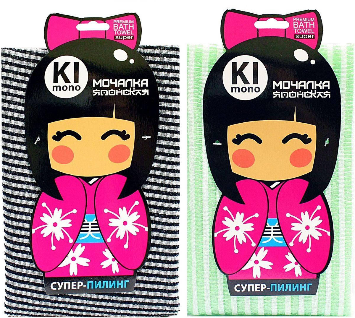 Мочалка-полотенце Eva Kimono. М34131МС50_зеленыйМочалка-полотенце массажная Eva Kimono, изготовленная из скраб-нейлона (многоволокнистой нейлоновой нити с объемным плетением) является оригинальным товаром для ценителей японских мочалок, обладает высоким массажным эффектом. Мочалка с самым высоким уровнем жесткости обладает эффектом скраба, кожа становится чистой, упругой и свежей. Идеальна для профилактики и борьбы с целлюлитом.