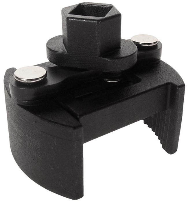 """JTC Ключ для снятия масляного фильтра двухпозиционный. JTC-1103CA-3505Особая рифленая конструкция способствует крепкому захвату масляного фильтра.Универсальный дизайн для масляных фильтров различных типов.Специальная пружина в конструкции ключа предотвращает выскальзывание фильтра.Диаметр: 60-80.Ключ: 1/2""""Drх21 мм.Габаритные размеры: -/-/- мм. (Д/Ш/В)Вес: - гр."""