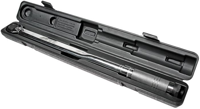 Ключ динамометрический JTC, 1/2 30-345 НмBG-3014Динамометрический ключ JTC является надежным и точным инструментом и предназначен для сборки ответственных соединений с заданным моментом затяжки крепежа. Ключ откалиброван и протестирован по международным стандартам. Широкий рабочий диапазон обеспечивает качественную работу.Диапазон: 30-345 Нм,Длина: 635 мм,Посадочный квадрат: 1/2.