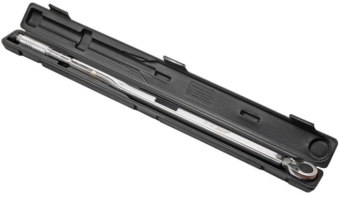JTC Ключ динамометрический. JTC-1206CA-3505Посадочный квадрат: 3/4.Усилие затяжки: 135-812 Н·м.Длина: 1070 мм.Упаковка: прочный пластиковый кейс.Количество в оптовой упаковке: 4 шт.Габаритные размеры: 1120/90/70 мм. (Д/Ш/В)Вес: 6600 гр.