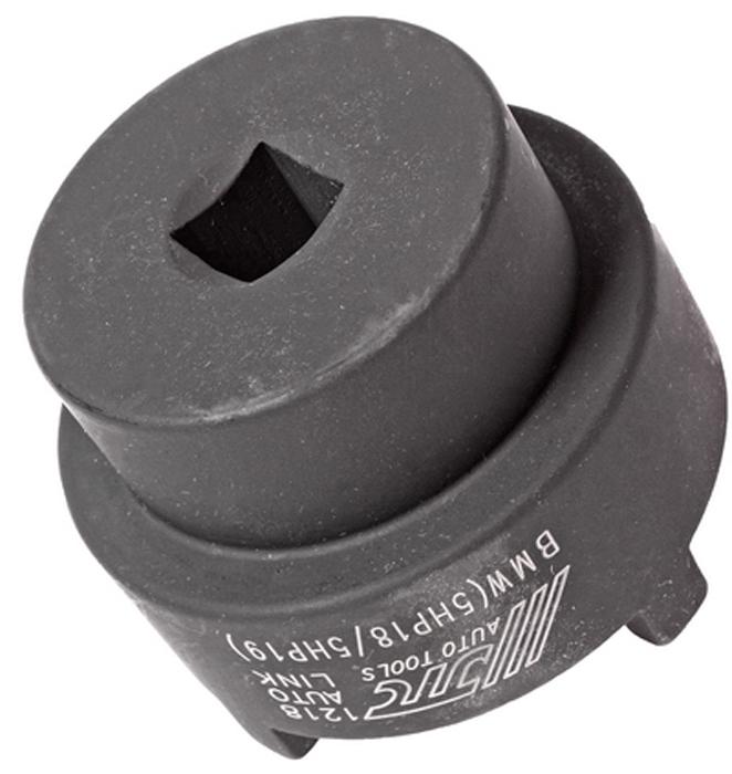 JTC Ключ специальный для шлицевой гайки коробки передач 5HP18/5HP19 под 1/2. JTC-1218CA-3505Применяется для затягивания/отворачивания шлицевой гайки на фланце выходного вала коробки передач. Размер под ключ: 1/2. Внутренний диаметр: 53.5 мм. (4 шлицы). Применение: автомобили БМВ (BMW). Габаритные размеры: 70/70/70 мм. (Д/Ш/В) Вес: 700 гр.