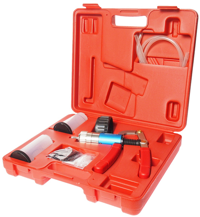JTC Набор для проверки давления и герметичности. JTC-1245CA-3505Предназначен для проведения обследования на предмет выявления проблем с давлением и герметичностью. В комплект входят разные виды соединений, что позволяет проводить диагностику на автомобилях большинства марок. Предоставляет возможности тестировать 2 режима давления. В комплекте предусмотрены клапаны для прокачки тормозной системы. Рабочие диапазоны: давление: 0~60 psi (1~4 дюйм г.), вакуум: 0~30 psi (1~1 дюйм г.) Упаковка: прочный переносной кейс. Количество в оптовой упаковке: 5 шт.Габаритные размеры: 350/310/90 мм. (Д/Ш/В) Вес: 1824 гр.
