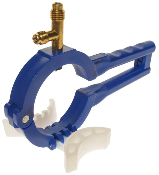 JTC Приспособление для заправки системы кондиционирования. JTC-1357JTC-4923SСпециально предназначено для открывания баллончиков с боковой стороны.Имеет 3 позиции, что позволяет использовать приспособление для всех видов баллонов.Имеет 2 выходных штуцера: 1/2 ACME для R-134a, 1/4 20T для R-12. Габаритные размеры упаковки: -/-/- мм. (Д/Ш/В)