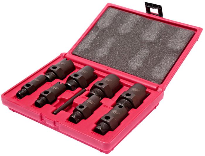 JTC Набор для восстановления метрических резьб штуцеров систем кондиционирования. JTC-1361CA-3505Специально предназначен для восстановления метрических резьб штруцеров системы кондиционирования. Метчики могут быть использованы для определения размера резьбы. Подходит для восстановления наружной и внутренней резьбы. В комплекте: М28-1.5Р; М27-2Р; М24-1.5Р; М22-1.5Р; М20-1.5Р; М18-1.5Р; М16-1.5Р; М14-1.5Р. Съемный штифт. Упакован в прочный пластиковый кейс. Габаритные размеры: 215/165/55 мм. (Д/Ш/В) Вес: 1372 г.