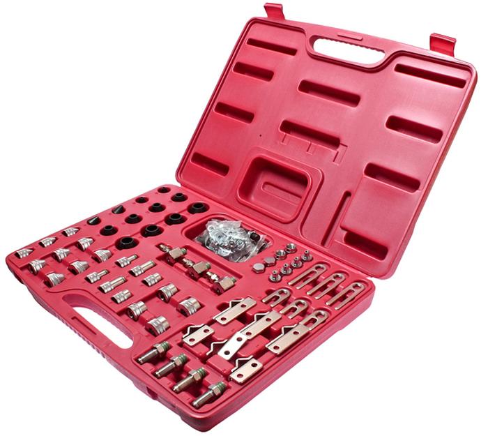 JTC Набор адптеров для тестирования системы кондиционирования универсальный. JTC-1402CA-3505Предназначен для систем кондиционирования с различными хладагентами. Используется для тестирования и промывания систем. Переходники. Уплотнители. Запатентован. Упаковка: прочный переносной кейс. Габаритные размеры: 390/310/75 мм. (Д/Ш/В) Вес: 2701 гр.