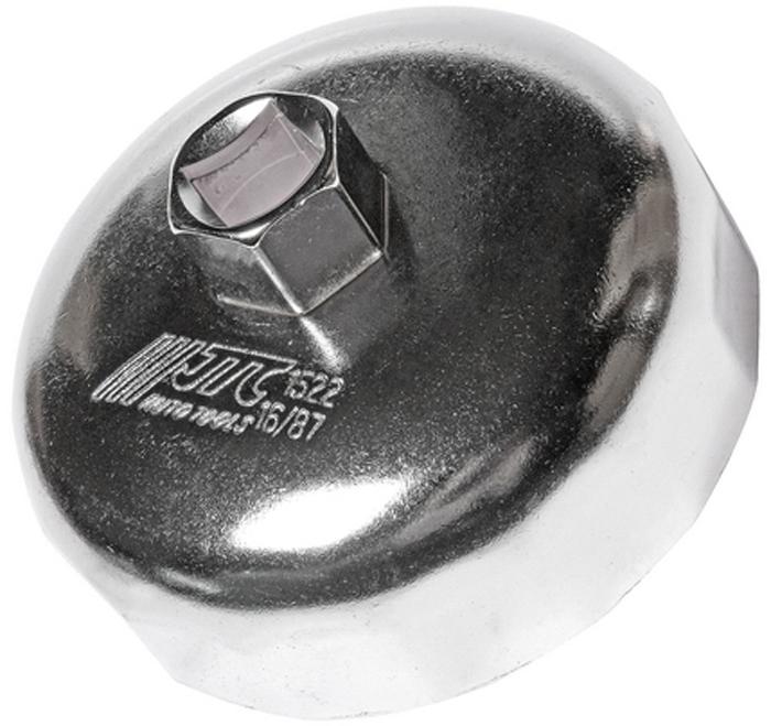 JTC Съемник масляного фильтра. JTC-1522CA-3505Предназначен для снятия масляного фильтра в ходе проведения диагностических работ. Форма - 16-гранная чашка. Размеры: 16 граней/87 мм. Применение: БМВ (BMW), Вольво (Volvo). Инструмент: 1/2, 21 мм. Количество в оптовой упаковке: 10 шт. и 100 шт. Габаритные размеры: 150/100/50 мм. (Д/Ш/В) Вес: 250 гр.
