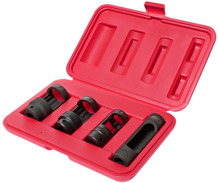 JTC Набор головок для кислородных датчиков. JTC-154319199Набор головок для снятия датчика кислорода. В комплекте (квадрат присоединения 1/2;): 28 мм. (12-гранная длина 78 мм.) 27 мм. (12-гранная длина 82 мм.) 22 мм. (12-гранная длина 80 мм.) 22 мм. (6-гранная длина 108 мм.)Общее количество предметов: 4 шт. Упаковка: прочный переносной кейс. Количество в оптовой упаковке: 10 шт. Габаритные размеры: 245/165/45 мм. (Д/Ш/В) Вес: 1160 гр.