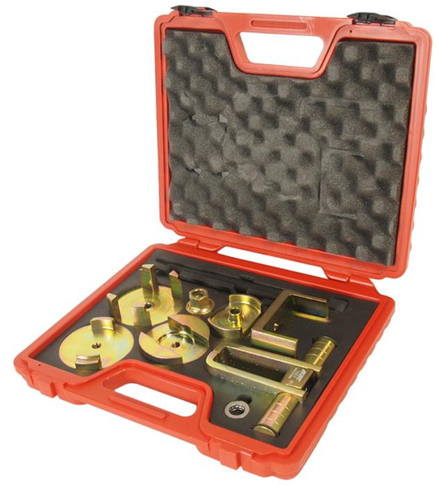 JTC Набор инструментов для снятия/установки сайлентблоков подрамника (MERCEDES W203). JTC-1553CA-3505Съемник предназначен для замены передних и задних сайлентблоков заднего подрамника.Применение: Автомобили Мерседес Бенц (MERCEDES) W203, W209, R171.