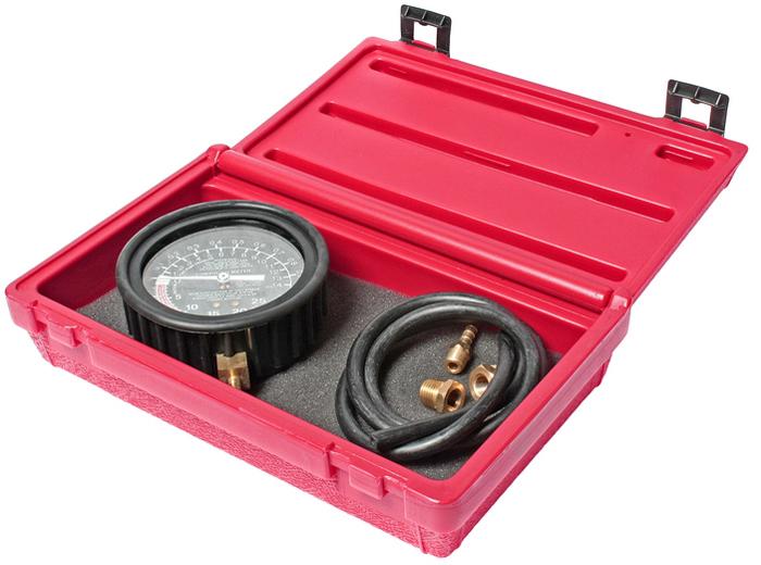 JTC Тестер вакуумного и топливного насосов профессиональный. JTC-1622CA-3505Шкала тестера диаметром 3-1/2; с легкочитаемой цветовой кодировкой значений. В комплект входят длинный шланг и адаптеры 14/18 мм. Предназначен для выявления неисправностей топливного насоса и вакуумной системы. Упаковка: прочный пластиковый кейс. Количество в оптовой упаковке: 24 шт. Габаритные размеры: 255/150/65 мм. (Д/Ш/В) Вес: 716 гр.