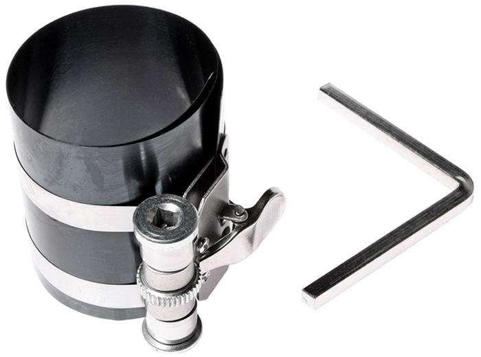 Оправка поршневых колец JTC. JTC-1734CA-3505Оправка поршневых колец JTC применяются для сжатия поршневых колец при установке поршней в цилиндры двигателя. Автоматическая фиксация оправки значительно облегчает работы по замене поршневых колец. Оправка поршневых колец изготовлена из специальной пружинной стали, комплектуется четырехгранным ключом для регулировки размера.Рабочие размеры: 53-125 мм.Высота оправки: 75 мм.