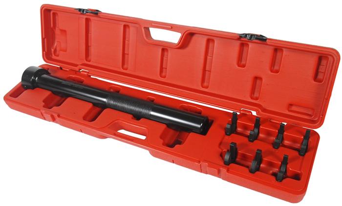 """JTC Набор ключей сервисных для шарнира рулевой рейки. JTC-1836JTC-1235Предназначен для снятия шарнира рулевой рейки без шестигранного профиля для обычных ключей. некоторые типы шарниров рулевой тяги имеют 2 рабочие грани и в этом случае извлечь шарнир с помощью обычного ключа становится проблематично. В комплект входит 7 монтажных скоб размерами 1-3/16"""", 1-1/4"""", 1-5/16"""", 1-7/16"""", 14 мм., 17 мм. и 33,6 мм. Упаковка: прочный переносной кейс. Габаритные размеры: 745/160/85 мм. (Д/Ш/В) Вес: 3080 гр."""