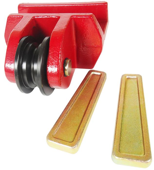 """JTC Шкив для цепей размером 5/16 и 3/8, 2 фиксирующих штифта. JTC-8P110CA-3505Используется с цепями 5/16"""" и 3/8"""". В комплекте два фиксирующих штифта. Кронштейн обладает подвижностью для эффективного выполнения кузовных работ.Габаритные размеры: 215/205/120 мм. (Д/Ш/В)Вес: 8940 гр."""
