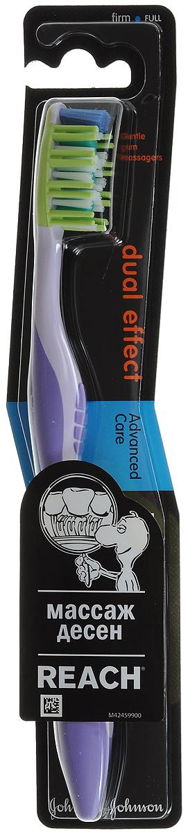 Reach Зубная щетка Dualeffect, жесткая цвет: сиреневыйCS5460_синийReach Зубная щетка Dualeffect, жесткая цвет: сиреневый