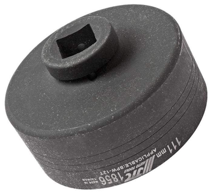 """JTC Головка ступичная овальная 1 х 111 мм (BPW-12T). JTC-1856CA-3505Предназначена для откручивания крышки заднего колеса. Размеры: под ключ 1"""", 111 мм. (овал). Применение: BPW-12T. Габаритные размеры: 160/150/80 мм. (Д/Ш/В) Вес: 2570 гр."""